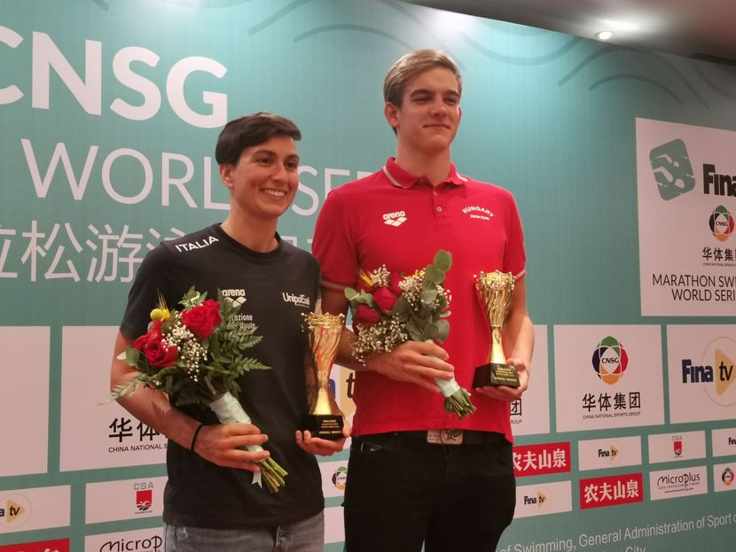 PR 80- Rasovszky (HUN) and Bruni (ITA) top overall FINA/CNSG Marathon Swim World Series 2019