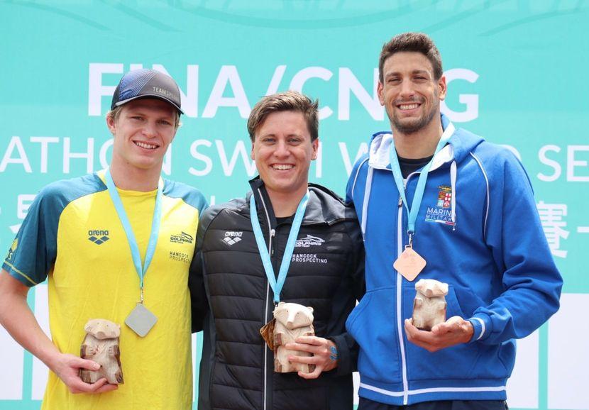 PR 77- Sloman (AUS) and Cunha (BRA) lead first Chinese Taipei Marathon Swim Series
