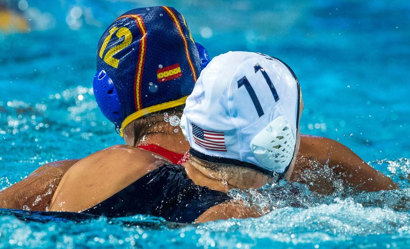 Day 7 Women's Water Polo: USA rolls Spain for fifth world crown