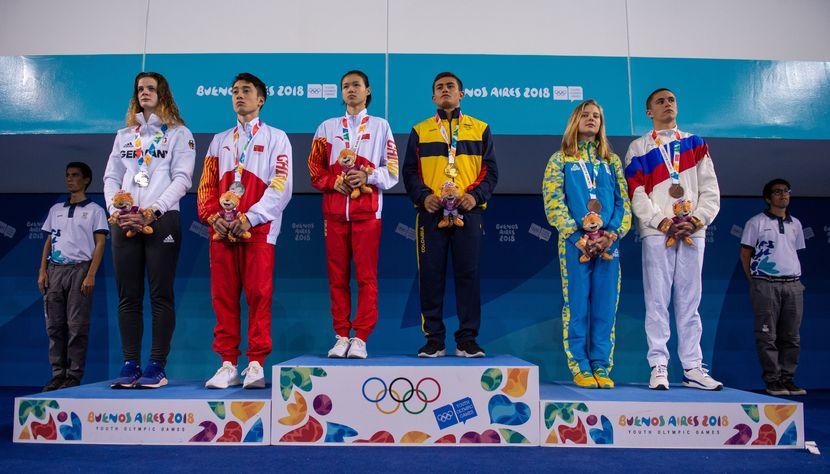 YOG BA 2018: Restrepo (COL) and Lin (CHN) pair for gold