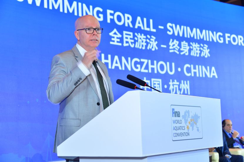 "FINA Convention Day 3: President Maglione ""The ability to swim is a vital skill"""