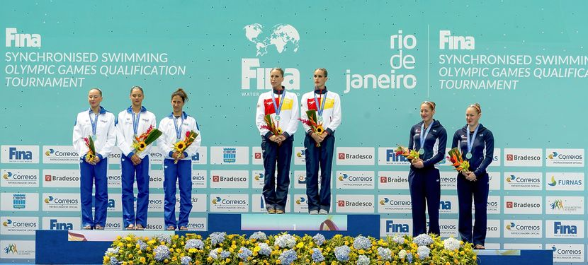 Spain, Italy and France lead the duet event in Rio