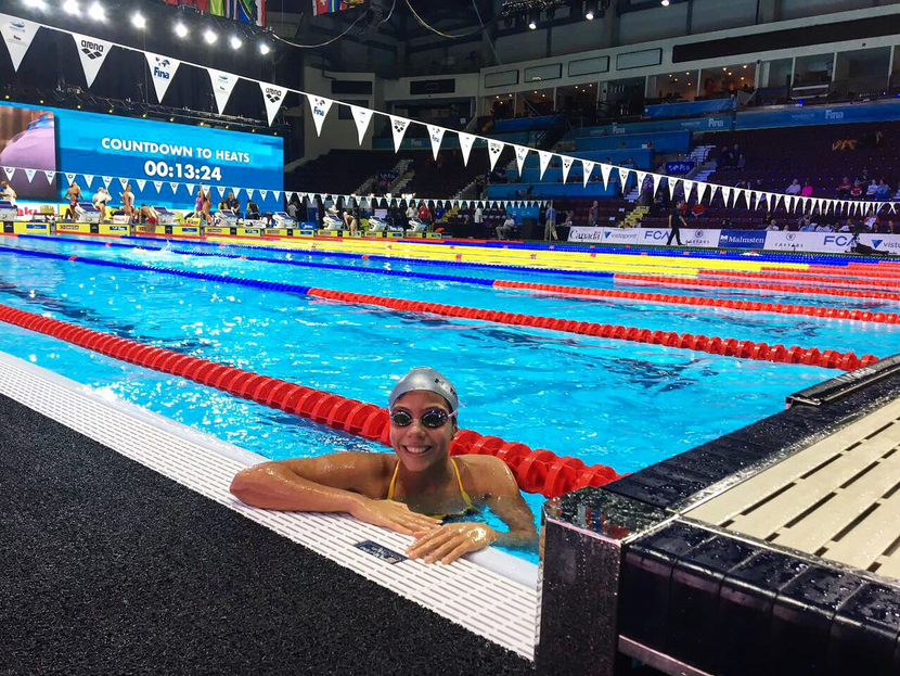 FINA Scholarship holder Moreno achieves qualifying times for Budapest and the Youth Olympic Games